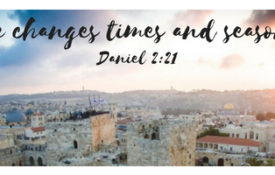 He changes times and seasons (Daniel 2_21)
